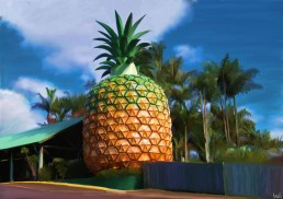 The Big Pineapple - Digital Oils by Andy Monks